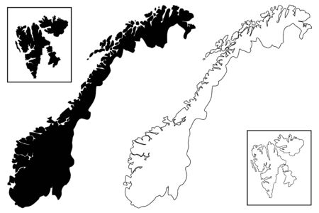 Norway map Illustration