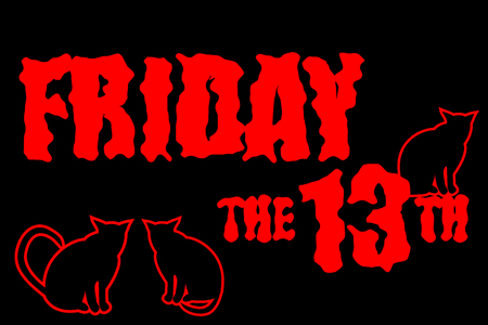 superstitious: Friday the 13th. Illustration
