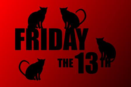 Friday the 13th. Illustration