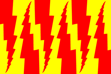 Lightning bolt - abstract geometric vector pattern in red and yellow