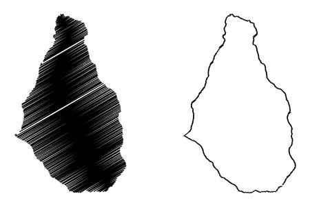 Montserrat island map.