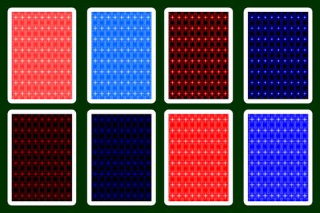 Spielkarte zurück Designs. Standard-Bild - 88437956