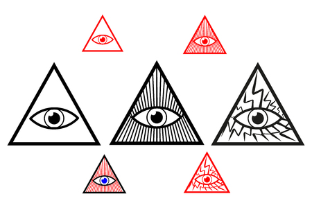 Divine eye, All Seeing Eye of God, Eye of Providence,  Illustration
