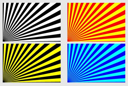 Rays - abstract striped background - vector set.
