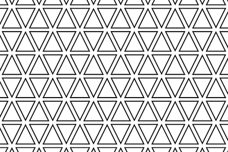 Triangle - black and white vector pattern, Abstract geometric pattern
