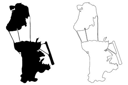 Macau map vector illustration, scribble sketch Macau Reklamní fotografie - 91759056