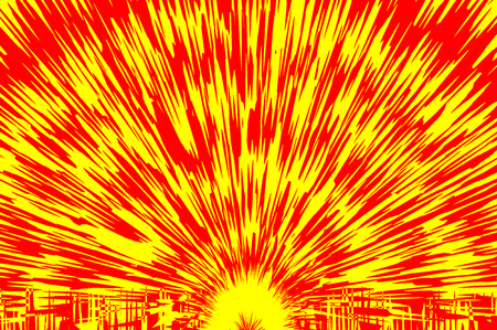 Explosion - abstract red and yellow vector pattern Illustration