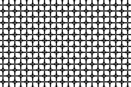 Cross - vector pattern - black and white Illustration