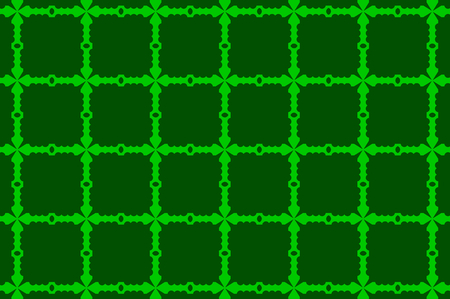 Cross - vector pattern - green
