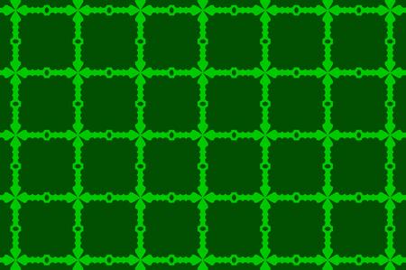 Cross - vector pattern - green