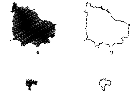 Norfolk Island map vector illustration, scribble sketch Territory of Norfolk Island