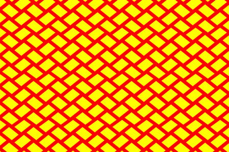 Grid - red and yellow vector pattern, Abstract geometric pattern Illustration