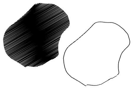 Nauru map vector illustration, scribble sketch Republic of Nauru