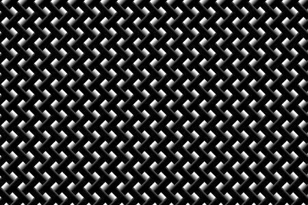 Grid vector pattern - black and white background, Ilustrace