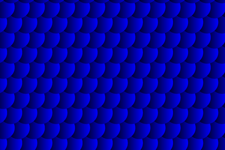 Fish scale pattern, Simple circular background - blue - vector circle pattern