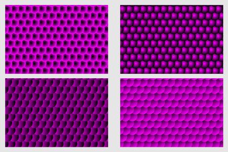 Modèle d'échelle de poisson, fond circulaire simple - ensemble violet - modèle de cercle de vecteur