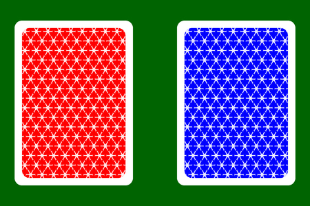 Playing Card Back Designs - snowflake pattern,