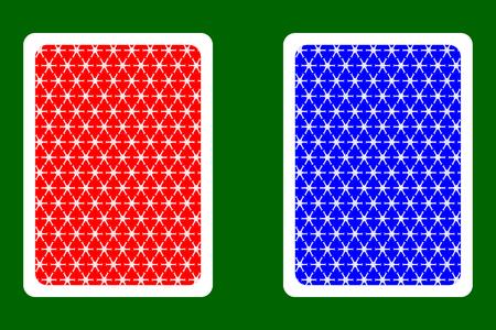 Playing Card Back Designs - snowflake pattern,