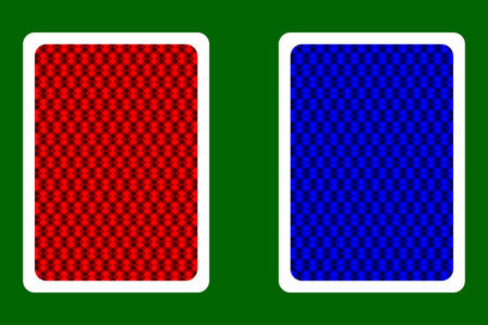 Playing Card Back Designs - square pattern, vector set,
