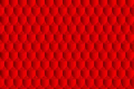 Fish scale pattern, simple circular background - red - vector circle pattern, egg abstract vector pattern.