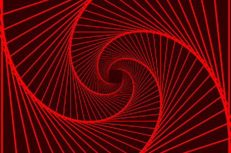 Rotating concentric squares, Square optical illusion pattern - red, Geometric abstract background