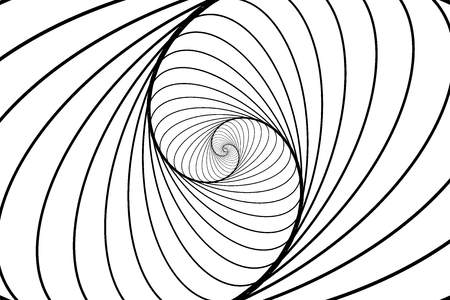 Rotating concentric ellipse. Ellipse optical illusion pattern