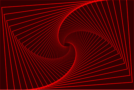 Rotating concentric rectangle. Square optical illusion pattern Illustration