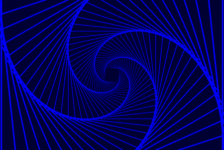 Rotating concentric squares, Square optical illusion pattern - blue, Geometric abstract background