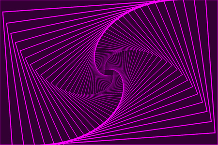 Rotating concentric rectangle   violet, Square optical illusion pattern   purple, Geometric abstract background