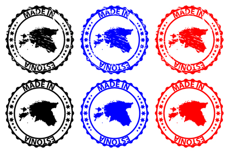 Made in Estonia rubber stamp vector 向量圖像