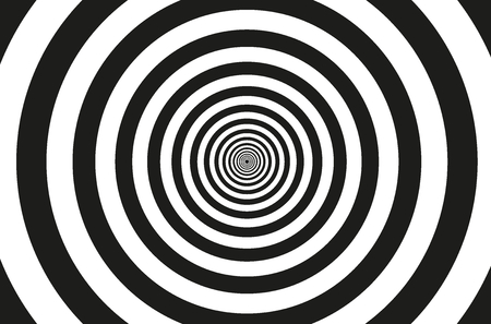 Concentric circle elements pattern, Black and white color ring, Circle spin target.