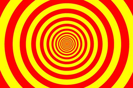 Modèle d'éléments de cercle concentrique, anneau de couleur rouge et jaune, illustration de cible de rotation de cercle.