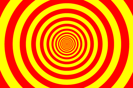 Concentric circle elements pattern, Red and yellow color ring, Circle spin target illustration. Illustration
