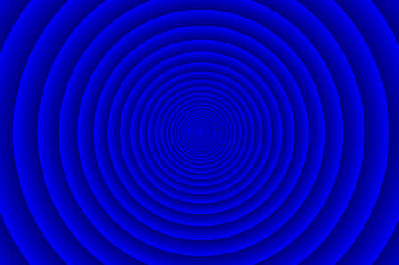 Concentric circle elements pattern, Blue color ring, Circle spin target, Illustration