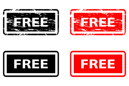Free rubber stamps vector black and red.