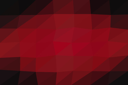 Triangle pattern abstract mosaic background, polygonal red and black colors.