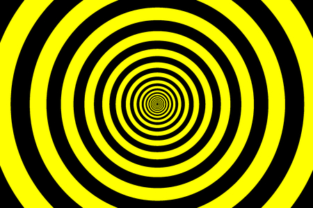 Concentric circle elements pattern, black and yellow color ring, circle spin target.