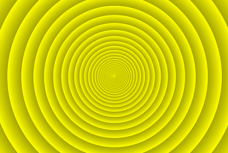Concentric circle elements pattern, Yellow color ring, Circle spin target, Illustration