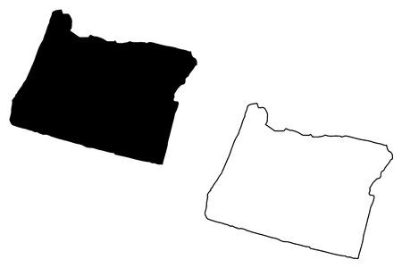 Oregon map vector illustration, scribble sketch Oregon map