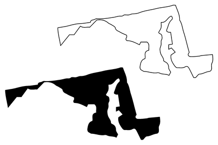 Maryland map vector illustration, scribble sketch Maryland map 일러스트