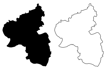 Rhineland-Palatinate (Federal Republic of Germany, State of Germany) map vector illustration, scribble sketch Rhineland-Palatinate map