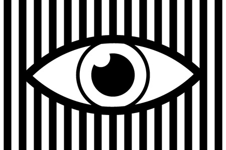 Eye abstract background - black and white vector pattern