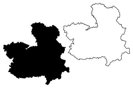 Castilla–La Mancha (Kingdom of Spain, Autonomous community) map vector illustration, scribble sketch Castile–La Mancha map Ilustração