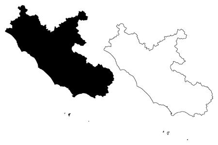 Lazio (Autonomous region of Italy) map vector illustration, scribble sketch Lazio map