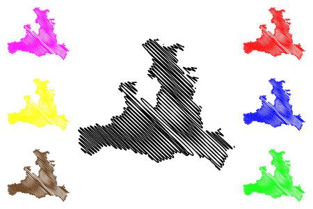 Salzburg (Republic of Austria) map vector illustration, scribble sketch Salzburg (state) map