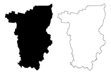 Perm Krai (Russia, Subjects of the Russian Federation, Krais of Russia) map vector illustration, scribble sketch Perm Krai map