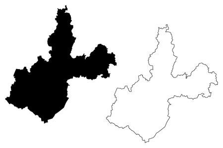 Irkutsk Oblast (Russia, Subjects of the Russian Federation, Oblasts of Russia) map vector illustration, scribble sketch Irkutsk Oblast map 向量圖像