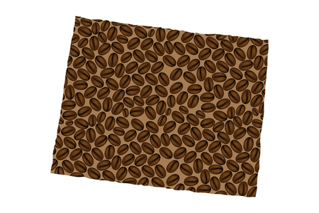 Wyoming (United States of America) -  map of coffee bean, State of Wyoming map made of coffee beans,