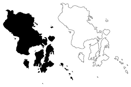 Southeast Sulawesi (Subdivisions of Indonesia, Provinces of Indonesia) map vector illustration, scribble sketch Southeast Sulawesi map
