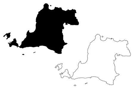 Banten (Subdivisions of Indonesia, Provinces of Indonesia) map vector illustration, scribble sketch Banten - Java - map Illustration